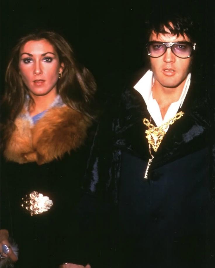 Elvis and girlfriend, Linda...1975
