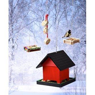 Fågelmatare av glasspinnar - Lekolar Sverige
