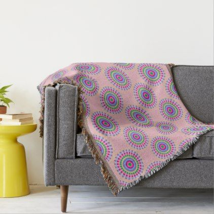 CHIC THROW_FUN PASTEL SUNBURST GEOMETRIC THROW - chic design idea diy elegant beautiful stylish modern exclusive trendy