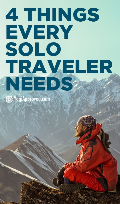 4 Things Every Solo Traveler Needs - YogiApproved.com