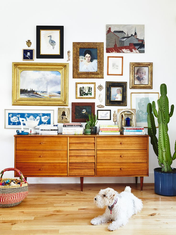 Utah Family Home Tour - eclectic and crooked gallery wall