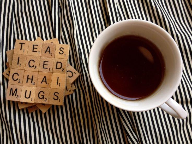 DIY Project: Scrabble Coasters • Gourmet Gab…