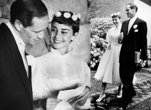 Audrey Hepburn and Mel Ferrer,   24th September 1954.