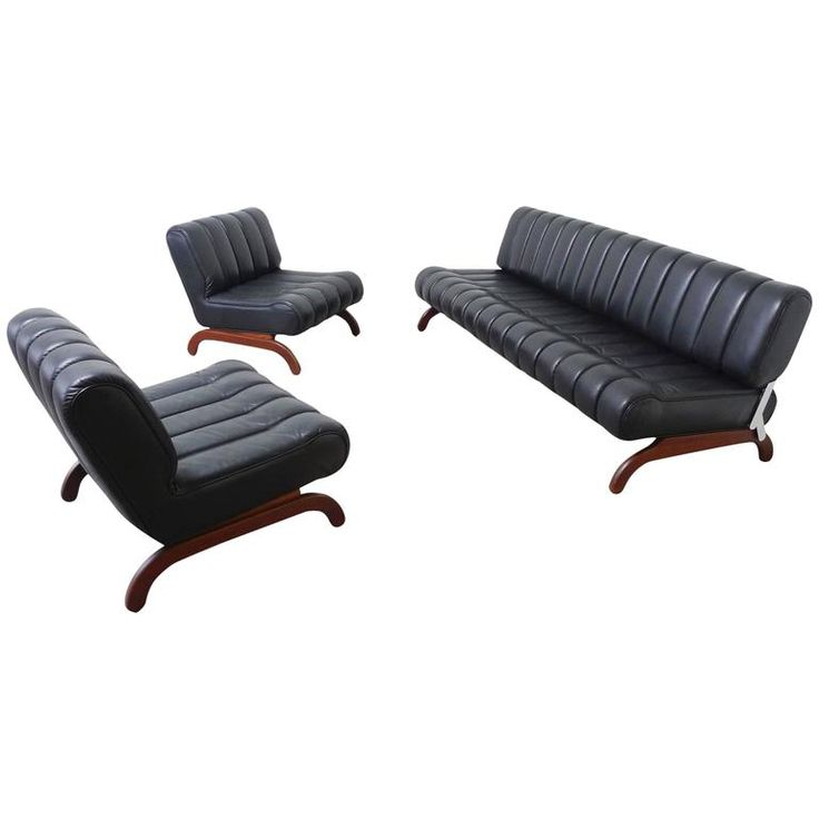 """Rare """"Independence"""" Sofa Group with Bed Function by Karl Wittmann, Austria, 1968   From a unique collection of antique and modern daybeds at https://www.1stdibs.com/furniture/seating/day-beds/"""