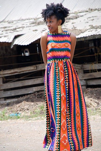 lovely tribal print...maybe my hair will do that in a few years