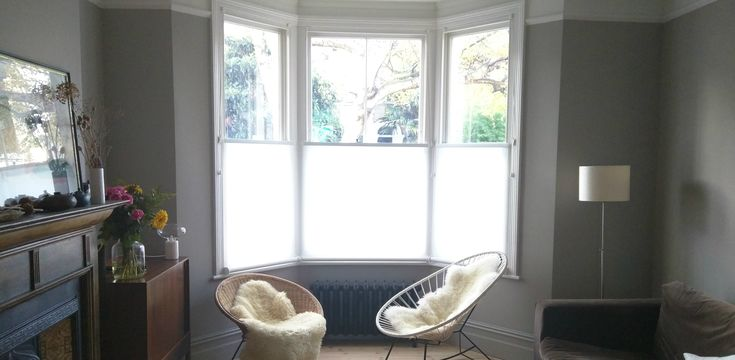 Bottom up roller blinds | Bay window | Peckham | Made to measure blinds | Up down blinds | Privacy blinds
