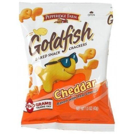 Le goût classique des crackers en forme de poisson rouge, des saveurs terriblement tentantes! Elaboré avec du vrai cheddar!!