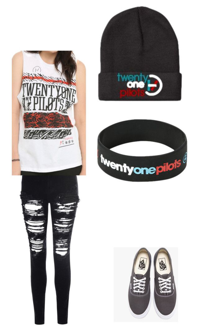 """""""Twenty One Pilots Concert"""" by hakuna1matata-1 on Polyvore featuring Glamorous and Vans"""