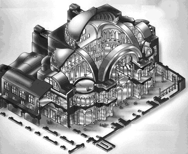 Hagia Sophia Plan | Arhitektura | Hagia sophia, Ancient ...