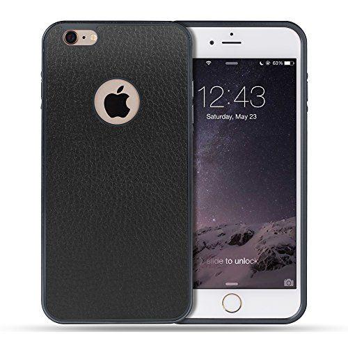 Apple iPhone Schutzhülle (mit Leder überzogener Alu Metall Schutzhülle). In stylischem schwarz! Auch in anderen Farben erhältlich!