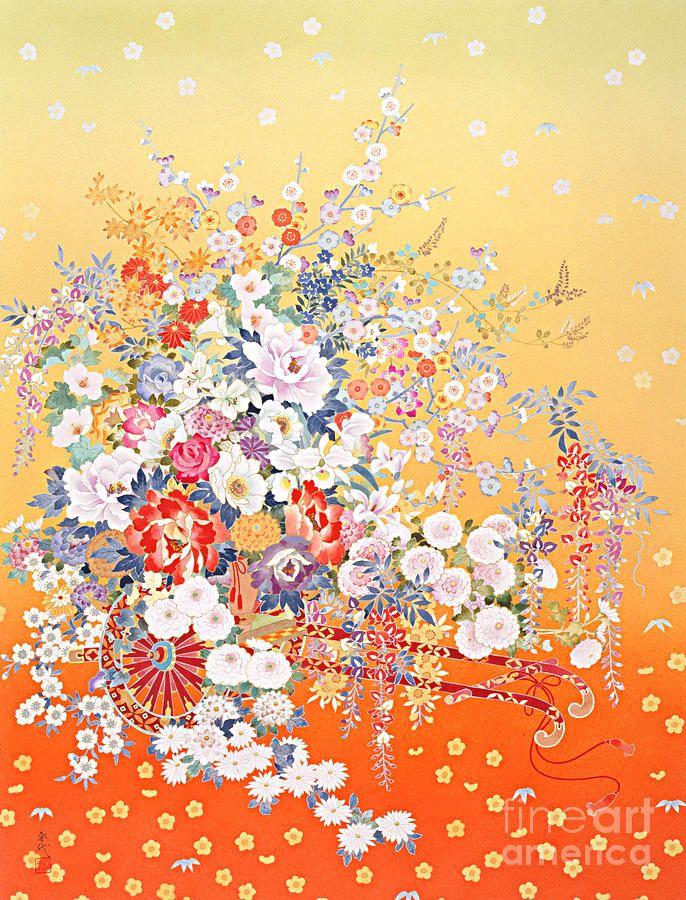 Hanaguruma by Haruyo Morita 森田 春代