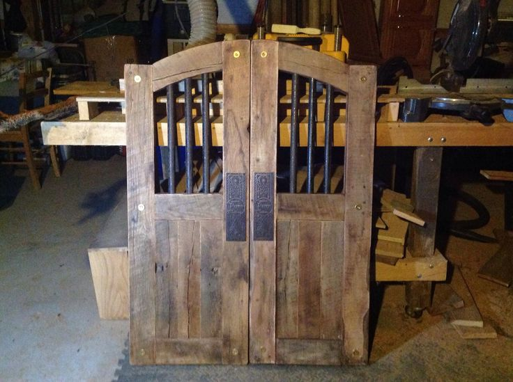 Rustic saloon doors our wonderful neighbor made for us:)