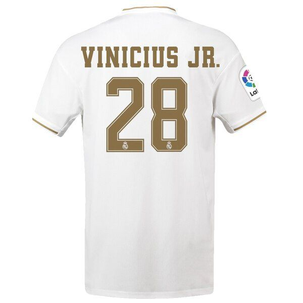 Vinicius Junior 28 Real Madrid 2019 2020 Home Soccer Jersey White Oxlade Vandijk Oxladechamberlain England Arsenal So Real Madrid Jersey Soccer Jersey
