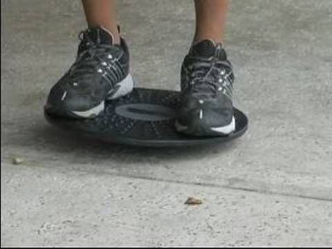 grab one from us! great little piece of equipment! How to Exercise on a Balance Board : Balance Exercise on a Balance Board - YouTube