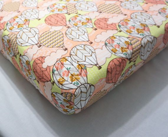 Hey, I found this really awesome Etsy listing at https://www.etsy.com/listing/517930031/coral-crib-sheets-hot-air-balloon