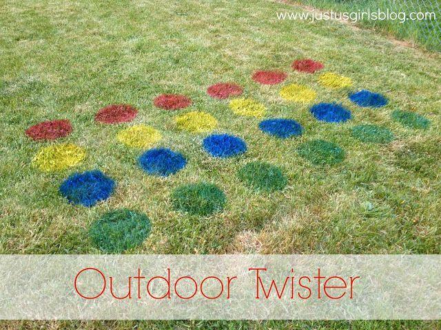 DIY - Outdoor Twister   Just Us Girls