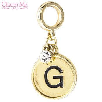Monogram Letter Charm G Monogram Letters Letter Charms Monogram