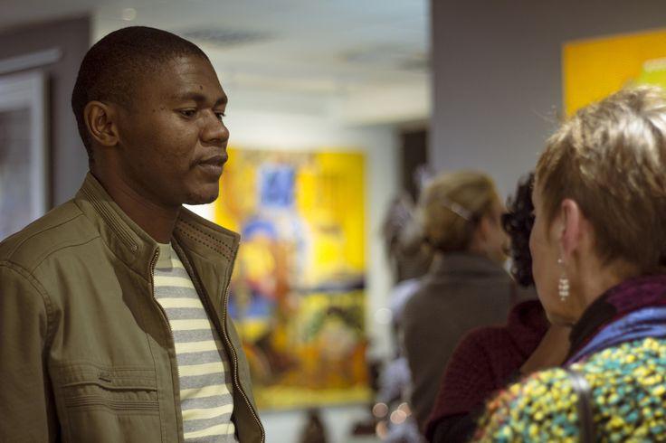 Sibusiso Duma discuses his work with Dalene Marais