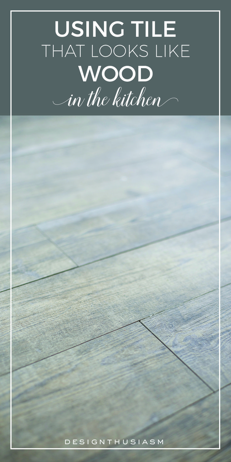 Floor mats that look like wood - Adding A Faux Wood Tile Floor In The New Kitchen