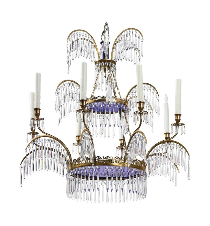 neoclassical lighting. a north european neoclassical cutglassmounted ormolu and cobalt glass eightlight lighting