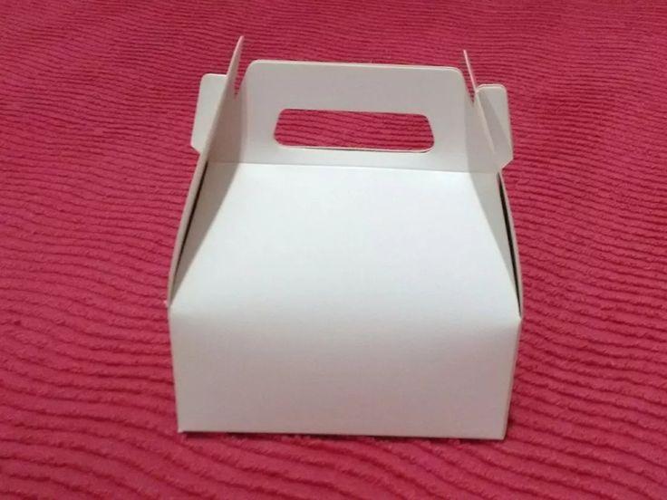 cajita feliz blanca lisa grande x 50 unidades