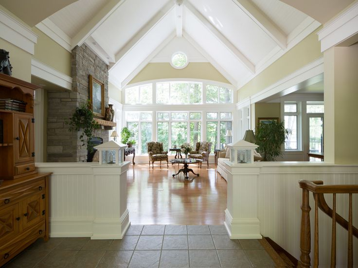 Great room vaulted ceiling.