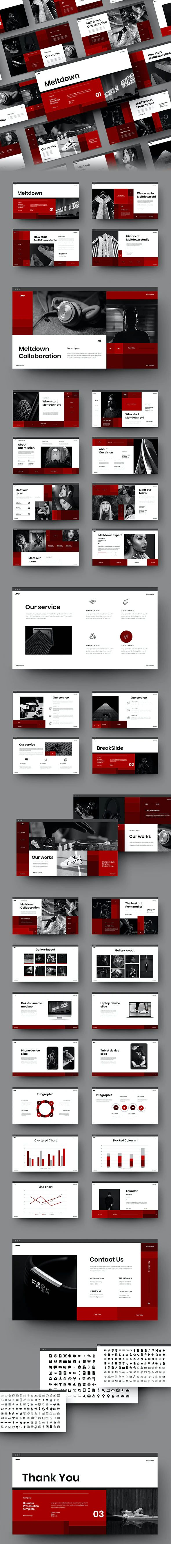 Meltdown – Business PowerPoint Template Preview