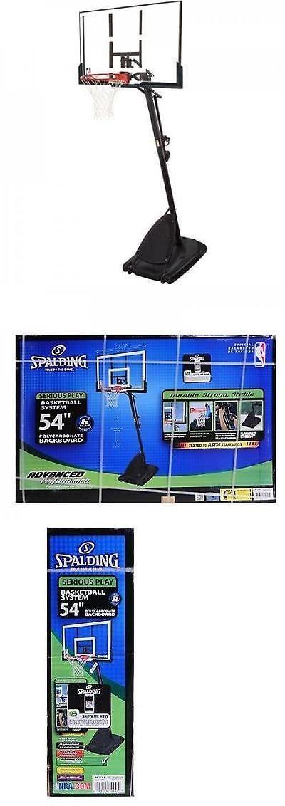 Backboard Systems 21196: Spalding 54 Portable Basketball System Adjustable Hoop Backboard Net Pole 66291 BUY IT NOW ONLY: $227.99