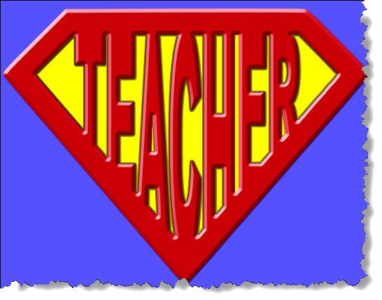 Superhero Clip Art for Teachers | Join the Sierra PTO as we celebrate Staff Appreciation Week – May 5 ...