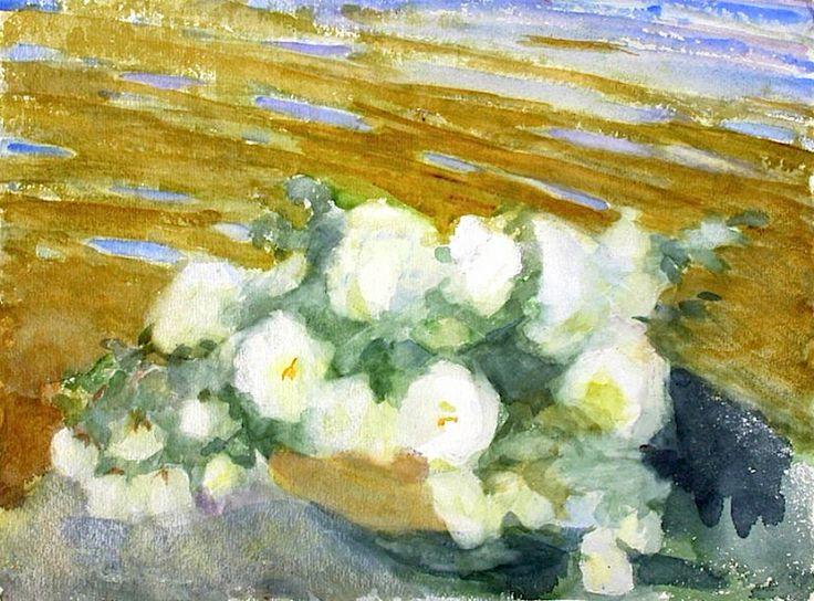 Wiik, Maria/ Valkoisia ruusuja maljakossa