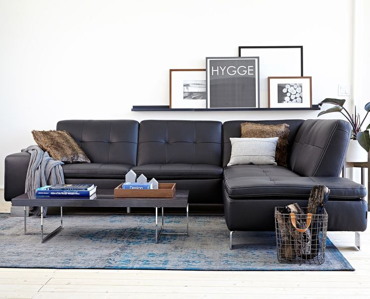 FRANCESCA LEATHER SECTIONAL LEFT SEATED