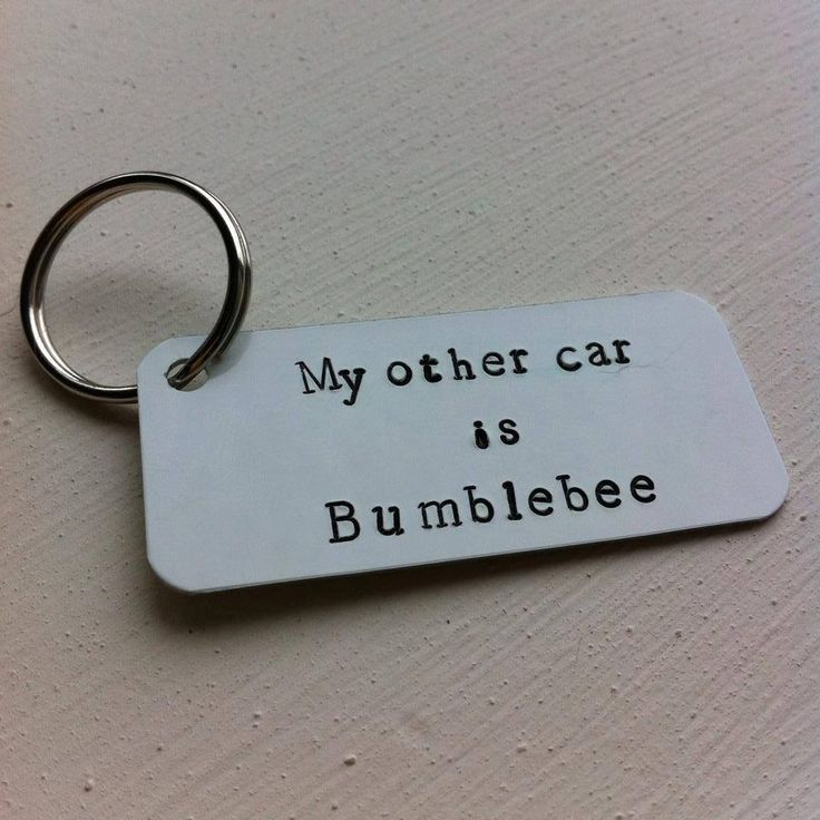 My other car is Bumblebee Hand stamped metal by AbercrombieCumbes, £7.50