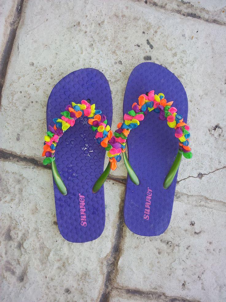 Very easy balloon flip-flops! Summer hit for my friends <3