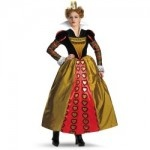 The Red Queen Adults Fancy Dress Costume Tim Burtons Movie