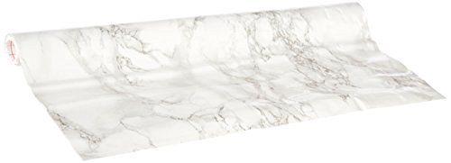 Hornschuch Papier adhésif motif marbre Gris 45 cm x 2 m