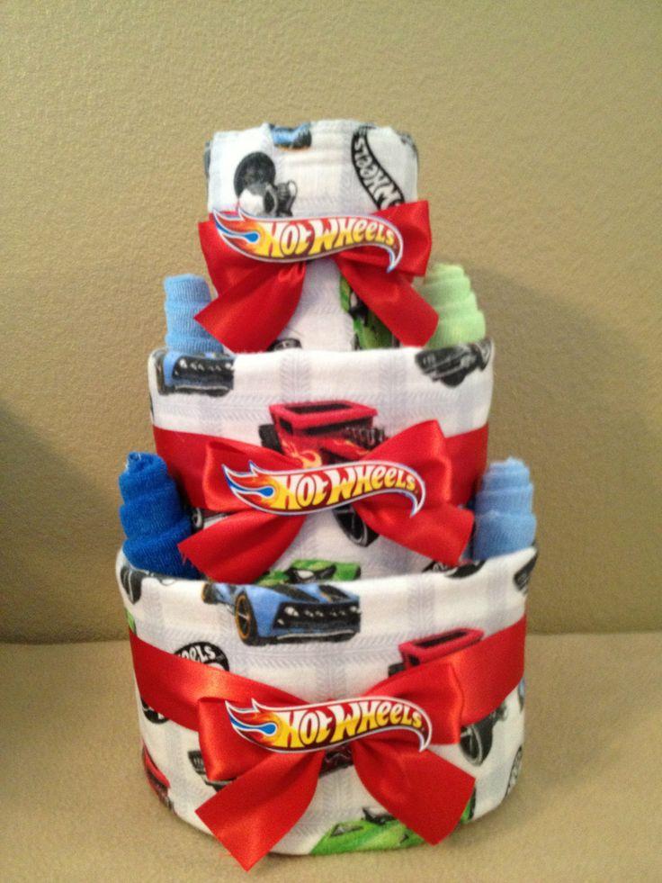 Hot Wheels Car Baby Boy Diaper Cake by RessellCustomBaby on Etsy, $49.00