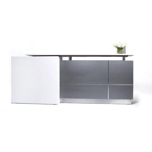 Alpha Reception Counter Desk, Reception Office Desks Hob Top 2500mm Wide