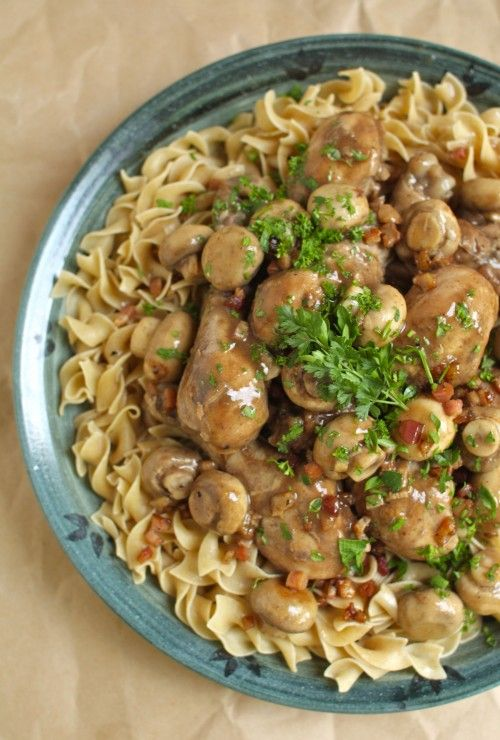 Simple Coq au Vin (Chicken with Mushrooms in Red Wine Sauce) | Recipe ...