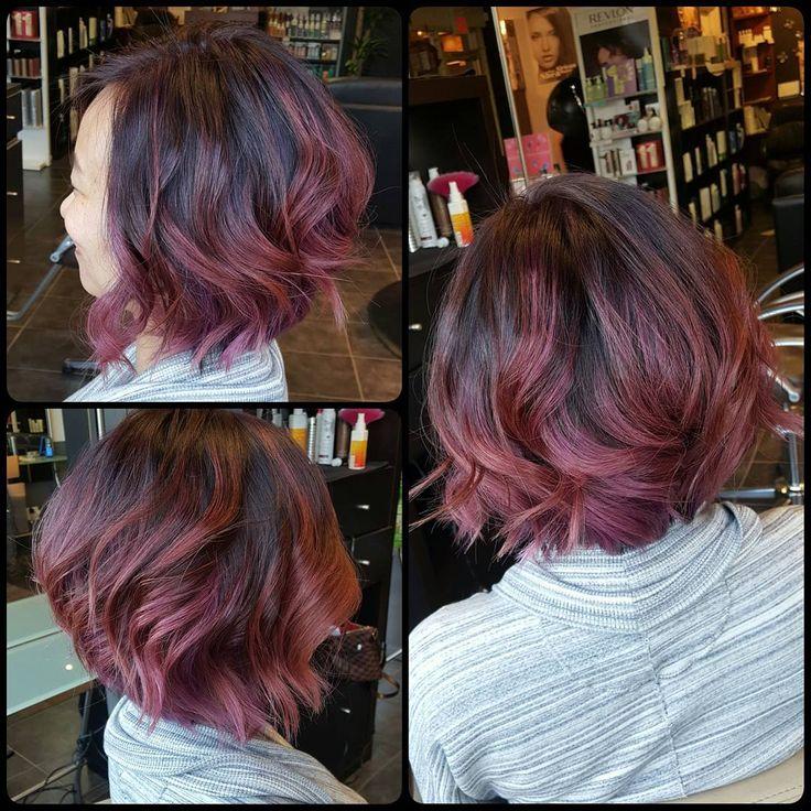 25 ide terbaik highlights black hair di pinterest rambut ombre subtle lavender rose dye job highlights for black hairlavender urmus Images