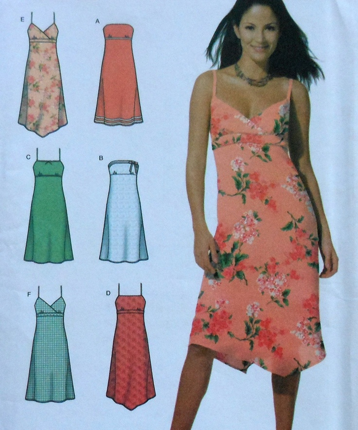Retro Sundress Sewing Pattern Simplicity 7861 Juniors Size 7/8 ...