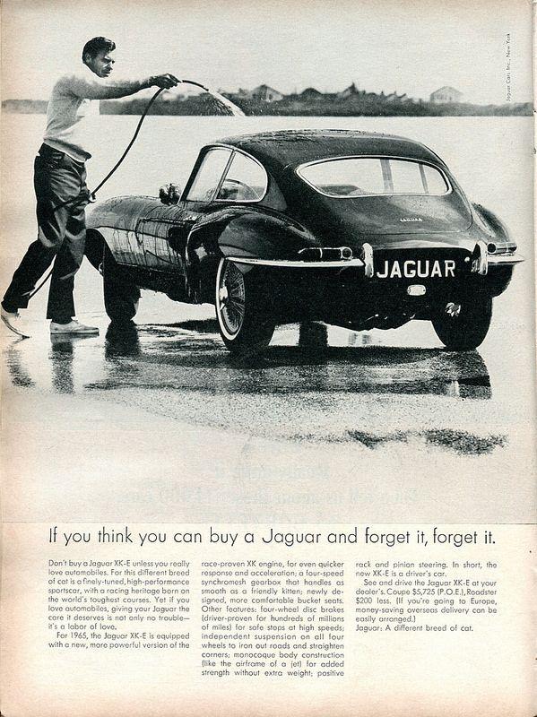 1965 Jaguar XK-E Advertisement Road & Track February 1965 | Flickr - Photo Sharing!