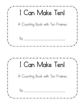 This book is perfect for teaching number sense and helping children understand ten frames. Print and copy the books. Children can fill the blank ten frames on each page with mini-stickers, stampers, bingo dot markers, or even snacks! This book can be used with any theme or holiday, too, by simply using holiday stickers or stampers to fill the ten frames.