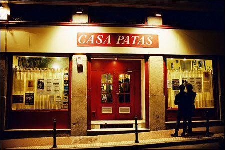 Casa Patas. Flamenco en vivo. Live Flamenco, Madrid. Sara Baras performance venue
