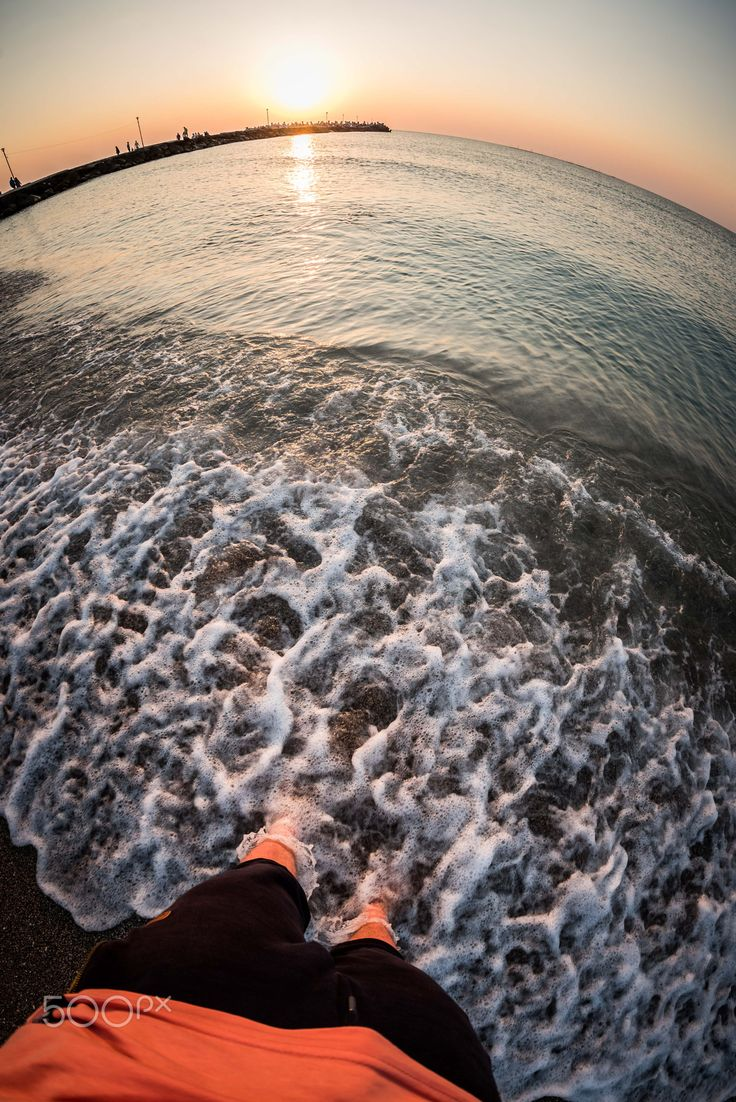Black Sea sunrise - A fisheye shot with the sunrise by the Black Sea, summer 2017
