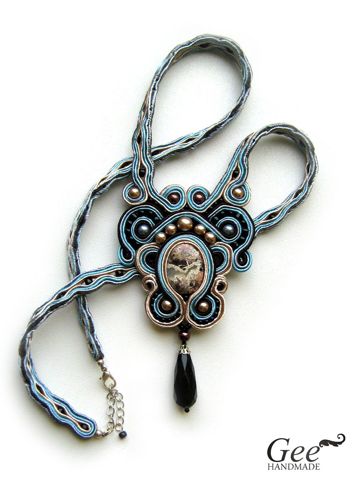 "Soutache necklace ""Venice"". 85.00"