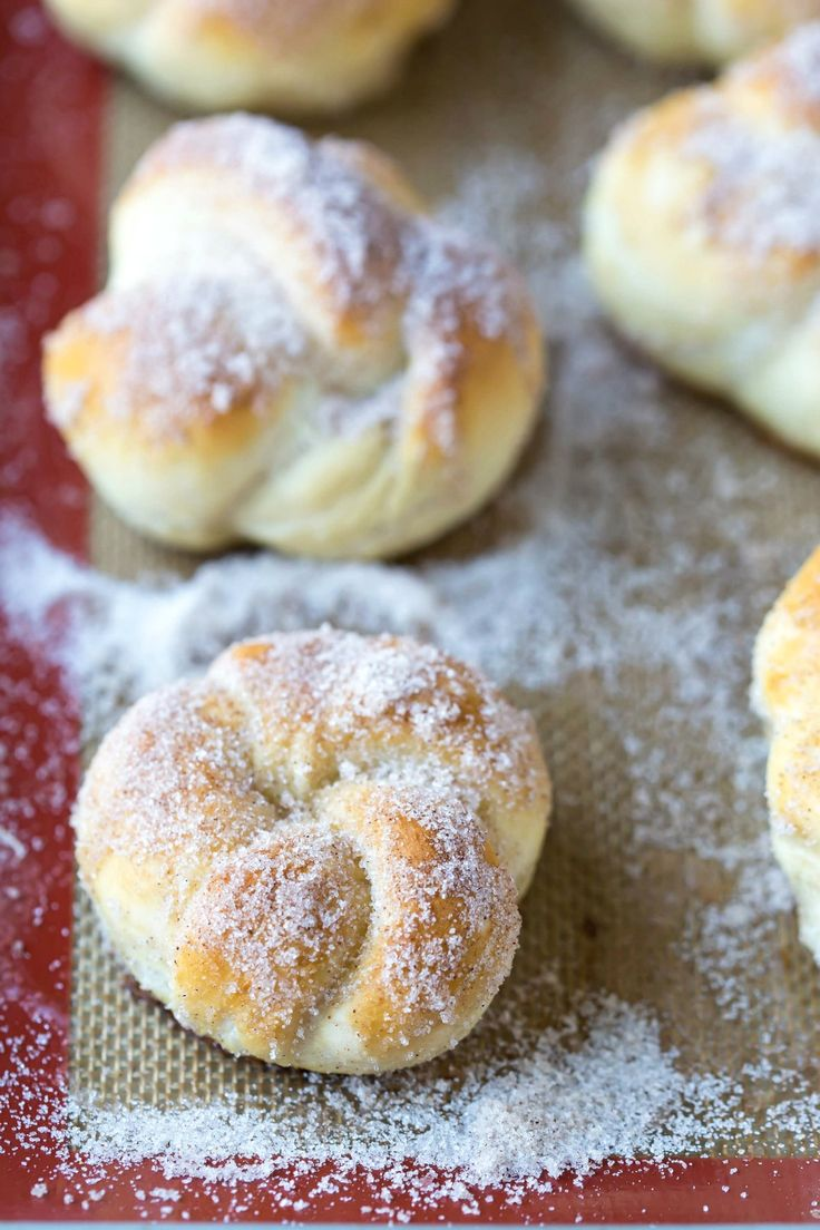 Cinnamon sugar pretzel knots are made from scratch, copycat versions of the mall pretzels. Easy recipe that makes a great snack, appetizer, or dessert!