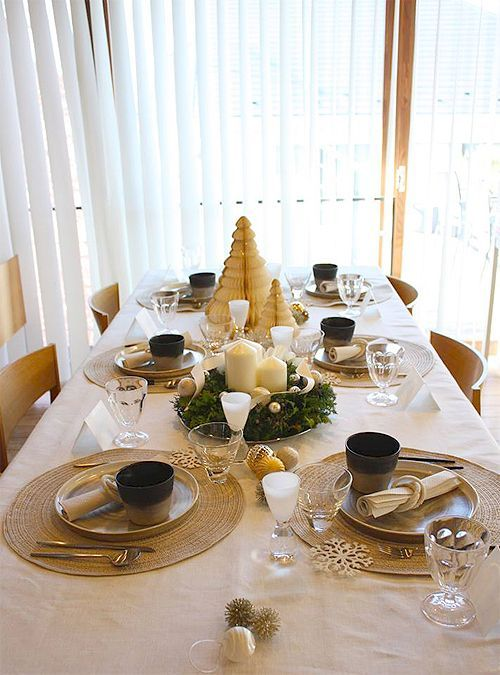 『大人女子がときめくクリスマスランチ会☆』のテーブルコーディネート。: