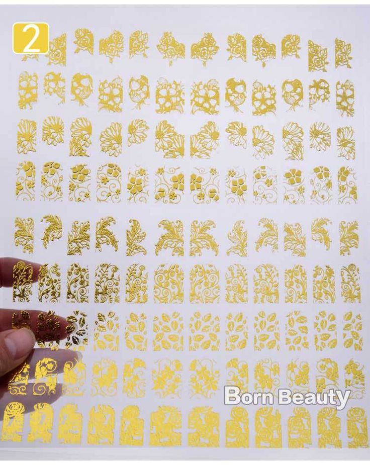 3d Gold Nail Stickers 108pcs/sheet Metallic Nail Art Decoration Tools Flower Designs Fashion Manicure Nail Decals ** Check this awesome product by going to the link at the image.