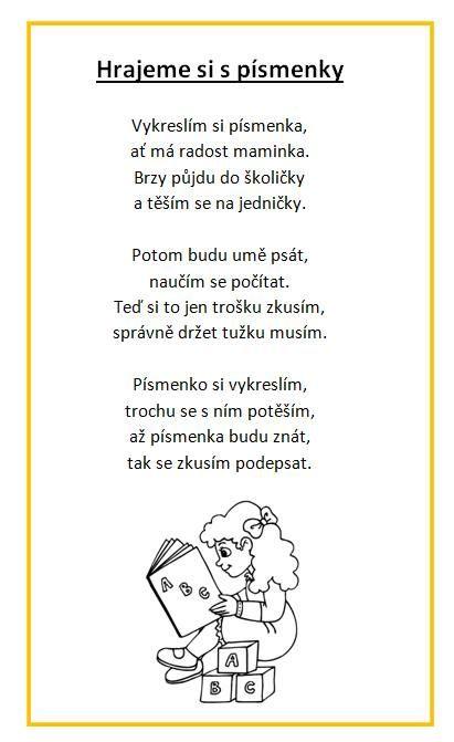 Hrajeme si s písmenky - báseň