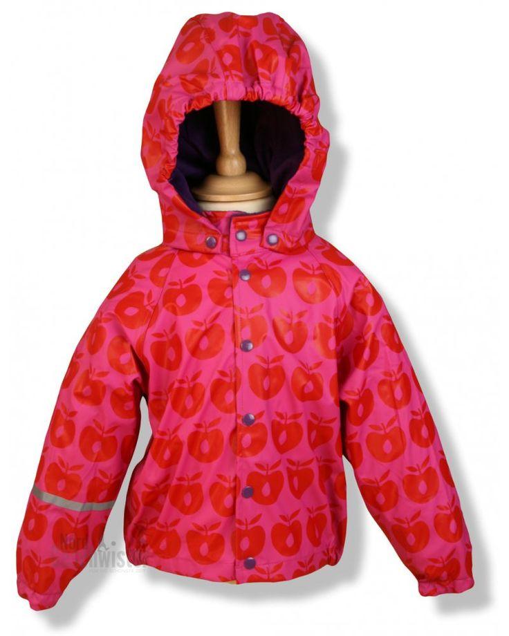 SMAFOLK Regenjacke, Rainsuit, Apples Pink  Gut vor Regen geschützt in Pink für Mädchen, in Blau für Jungen!